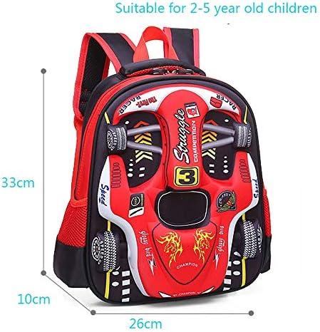 3D Racing Cars, Mochila Impermeable para Libros Infantiles, Mochila Escolar para niños (Rojo, Mediano: 14.56 x 11 x 6.69 Pulgadas): Amazon.es: Equipaje