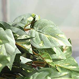 Factory Direct Craft Group of 3 Cascading Artificial Flocked Pothos Ivy Vine Bush for Home Decor, and Displaying 2