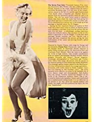 Marilyn Monroe Audrey Hepburn original clipping magazine photo 1pg 8x8 #Q6350