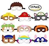 Puppy Party Birthday Masks for Paw Patrol Toys-Party Supplies for Kids (Set of 10)