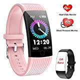 Fitness Tracker, Activity Tracker Smart Watch with Heart Rate Monitor, 1.14 Inch Color