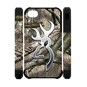 Browning Cutter Logo Camo iPhone 4 4S Perfect Color Match Cover Case for Fans