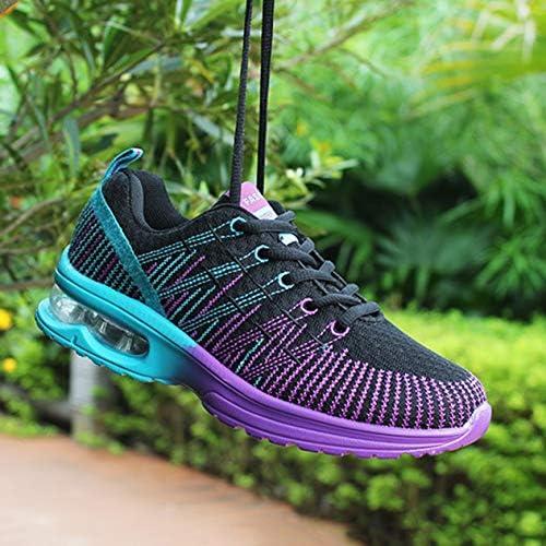 Sport Chaussures de Course Femme Respirant Confortable Lace Up Outdoor Jogging Marche Chaussures de Sport Baskets en Mesh léger (Noir) BCVBFGCXVB