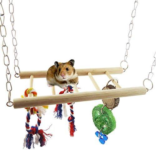 Parrot Toys Swing Squirrel Hamster Toys Suspension Bridge Stairs 9.522cm