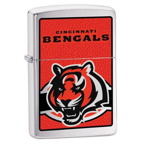 Zippo NFL Cincinnati Bengals Lighter (Silver, 5 1/2 x 3 1/2 cm) ()