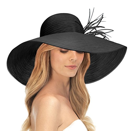 Eric Javits Luxury Fashion Designer Women's Headwear Hat - Marisa - Black by Eric Javits