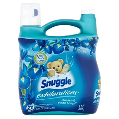 Snuggle Exhilarations Liquid Fabric Softener, Blue Iris and Ocean Breeze set of 4, 96 fl. oz per Jug a Total of 384fl. oz