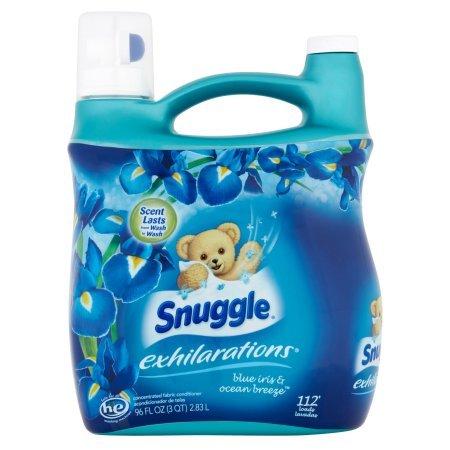 """Snuggle Exhilarations """"Blue Iris"""" Fabric Softener Liquid, 96"""