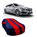 MotRoX Car Body Cover For Mercedes Benz CLA with Side Mirror Pocket (Red & Blue)