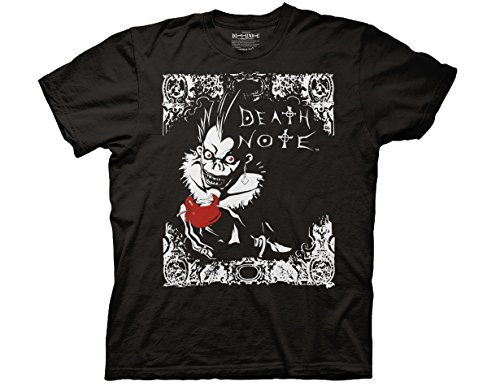 Ripple Junction Death Note Ryuk Apple & Death Note Type In Frame 2 Color Adult T-Shirt Medium (Death Note Cloth)