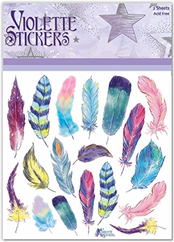 Violette Stickers Pastel feathers