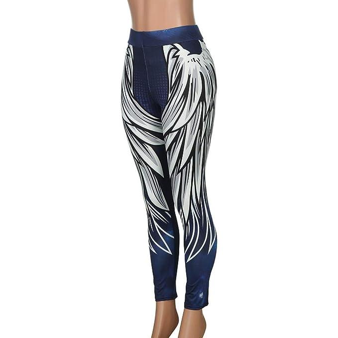 14c728437b07b SGMORE ❤ Women High Waist Yoga Legging Power Flex Tummy Control Workout  Stretch Sport Yoga Pants for Gym Exercise Blue at Amazon Women's Clothing  store: