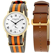 Frederique Constant Slimline Gold Men's Watch FC235M4S5GRYOR + Extra Strap