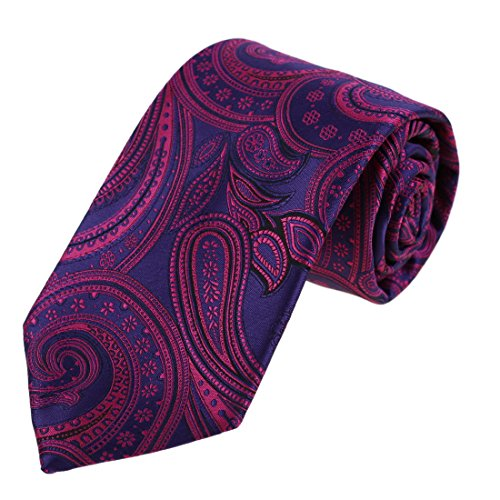 EAA1B01D Xmas Presents Idea Microfiber Contemporary Classic Purple paisley Necktie Best Fashion Designer For Father By Epoint