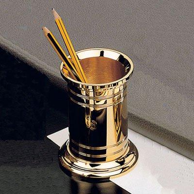 El Casco Pencil Pot 23 Karat Gold Plated M-654L by PhotoFramesPlus
