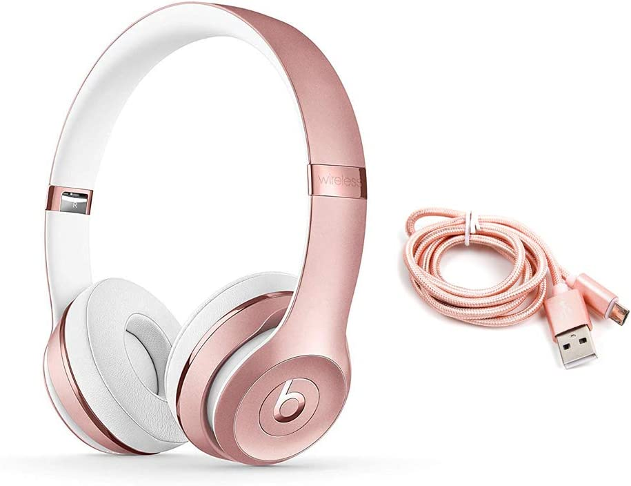 Beats Solo3 - Auriculares in-Ear inalámbricos, Color Oro Rosa y Cables Micro USB
