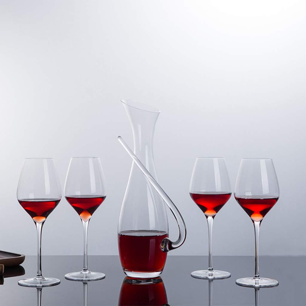 Zcxbhd デカンター ワインセパレータ クリスタル ガラス カップ斜め口 赤ワインガラス ゴブレット スーツ の レストラン KTV ホテル B07R8FW2Z4