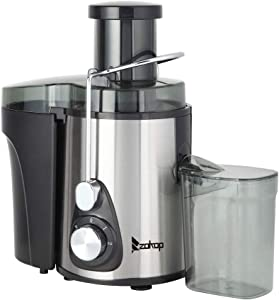 """Juicer Machine 600W Easy Clean High Yield With 3"""" Feed Chute, Compact Stainless Steel Juice Extractor With Safety Lock Anti-drip Design For Fruit Vegetable, BPA-Free"""
