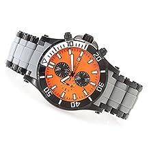 New Mens Invicta 19781 Sea Spider Chronograph Orange Dial Bracelet Watch