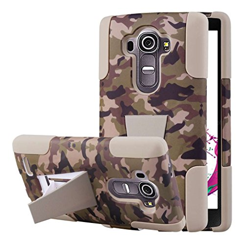 LG G4 Camo Case, MPERO IMPACT X Series Dual Layered Tough Durable Shock Absorbing Silicone Polycarbonate Hybrid Kickstand Case for LG G4 [Perfect Fit & Precise Port Cut Outs] - Hunter Camo