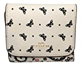 Coach Butterfly Bandana Small Wallet Chalk with Black Butterfly F59725