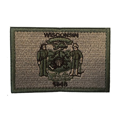 - SpaceAuto Wisconsin State Flag Tactical Morale Patch Coyote