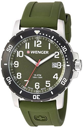 Wenger Men's 'Off Road' Swiss Quartz Stainless Steel and ...