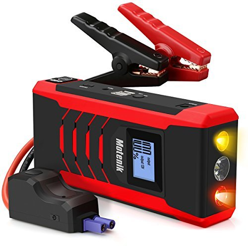 800A Peak Jump Starter Updated Version with Emergency Light 4 Modes Motenik Car Jump Starter(Up to 6.6L Gas or 5.2L Diesel Engines) Auto Battery Booster Dual USB Power