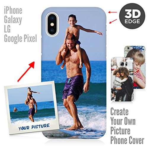 Apple iPhone 8 Plus Case, Your Own Custom iPhone & Galaxy Photo Cover 3D Matte Personalized Case for Gift for Apple iPhone 8 Plus (I Phone 5s Create Your Own Case)
