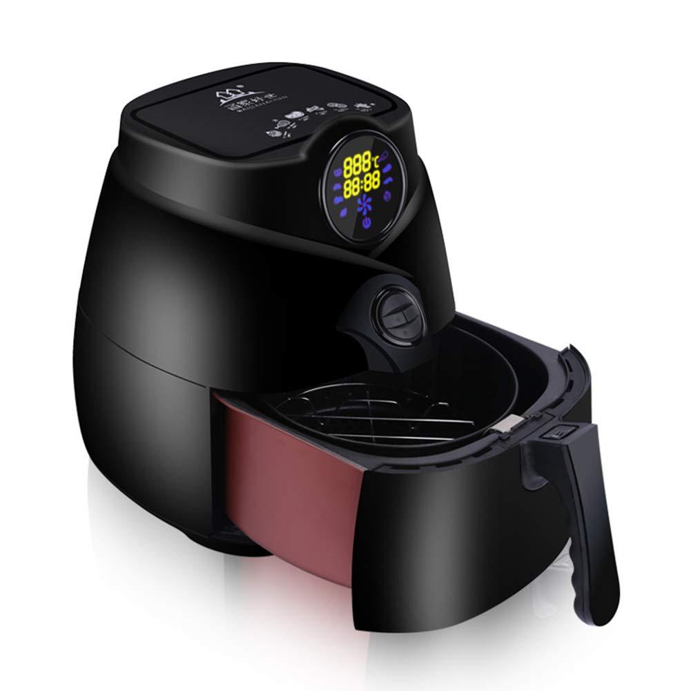 Una Fritteuse Intelligente Elektronische Touchscreen Nicht-Öl Elektrische Fritteuse Ofen Verwenden/SCHWARZ, 2.5L