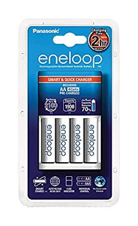 Panasonic Eneloop SY3052272 - Cargador BQR CC16 (incluye 4 x AA 1900)