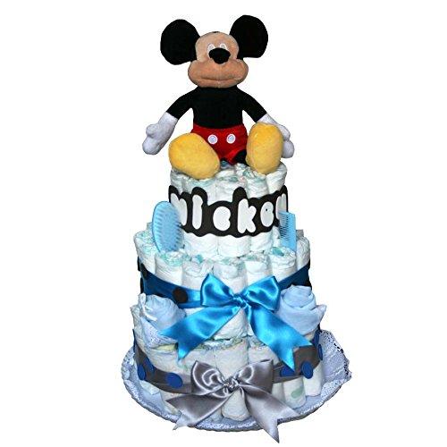 Tarta de pañales originales Dodot - Mickey azul -MilCestas ...