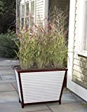 Galvanized Corrugated Metal Self-Watering Trough Planter, Tall
