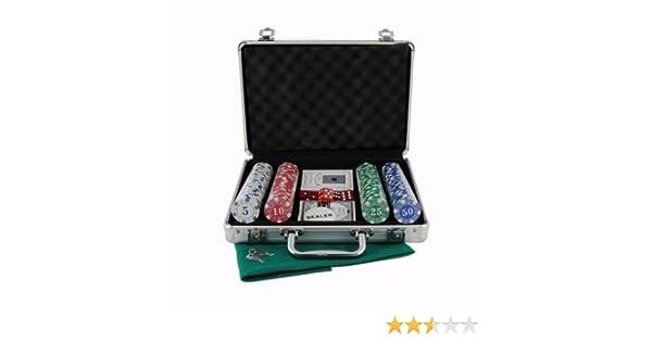 Maletin estuche de poker en aluminio de 200 fichas: Amazon.es: Juguetes y juegos