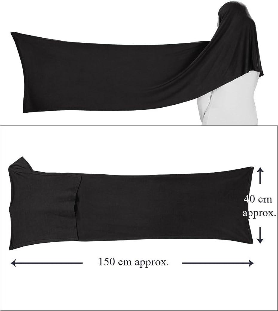 MyBatua Womens Soft Viscose Jersey Hijab and Band Muslim Head Wrap Islamic Two Piece Head Gear