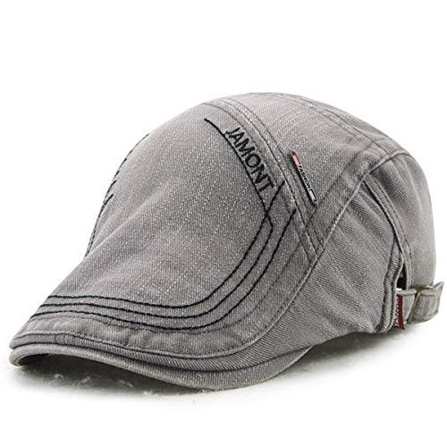 Edad Mediana de Casual de Hombres hat británico Sombrero Bailey Bordado GLLH A Sombrero Sombreros qin Sombrero para C Vintage Sombrero Pato OqwBpA4A