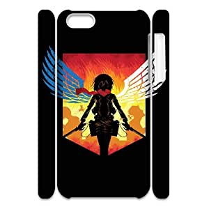 HXYHTY Design Case of Attack on Titan Phone 3D Case For Iphone 5C [Pattern-1]