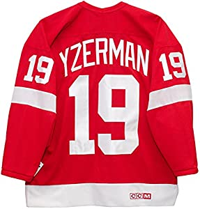 Steve Yzerman Detroit Red Wings Red CCM Jersey Sewn Tackle Twill Name and Number