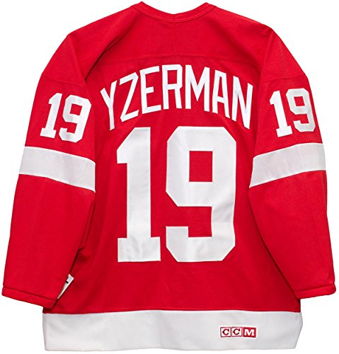 Steve Yzerman Detroit Red Wings Red CCM Jersey Sewn Tackle Twill Name and Number (XL)
