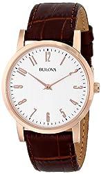 Bulova Men's 97A106 Leather Strap Watch