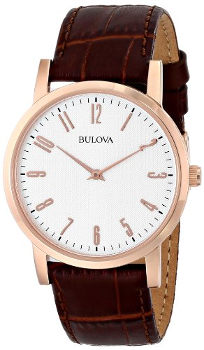 - Bulova Men's 97A106 Leather Strap Watch