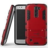 LG Treasure Case, CoverON® [Shadow Armor Series] Hard Slim Hybrid Kickstand Phone Cover Case for LG Treasure - Red & Black