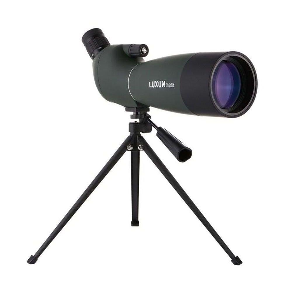 GAOLIXIA 25-75X70 Zoom Cannocchiale con treppiede a lunga gittata Target Shooting Birdwatching Monoculare Telescopio HD con lente in vetro ottico FMC Verde (Color : Green)