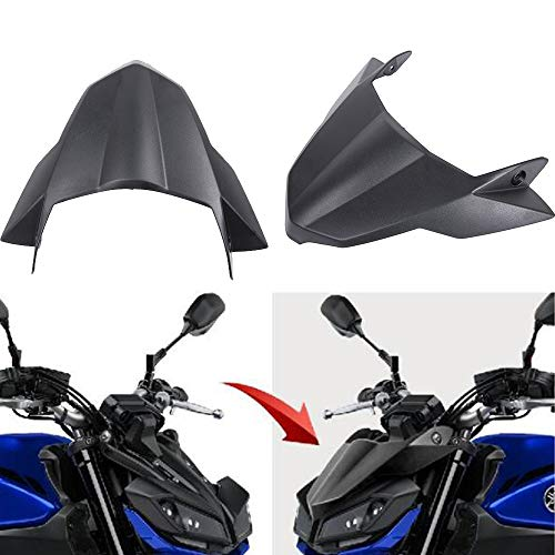 XX eCommerce for Yamaha FZ 09 MT-09 MT09 2017-2019 Motorcycle Accessories Fly Screen Shield Front Fender Beak Nose Cone Extension Extender Wheel Cover Cowl (Best Motorcycle Accessories 2019)