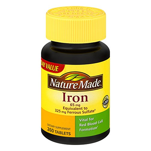 Nature Made Iron Dietary Supplement Tablets, 65mg, 260 count For Sale