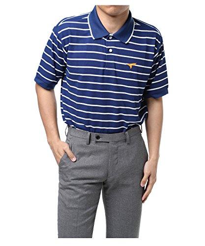 ツアーステージ ゴルフウェア ポロシャツ 半袖 鹿の子ボーダー半袖ポロ JTMH1A NA L