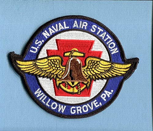 Embroidered Patch-Patches for Women Man- NAS Naval AIR Station Willow Grove ()