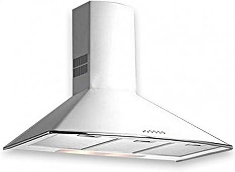 Teka DM 90 De pared Blanco 613m³/h D - Campana (613 m³/h, Canalizado/Recirculación, E, g, C, 55 dB): Amazon.es: Grandes electrodomésticos