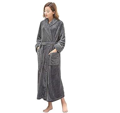 b35caa2466c MAGILONA Women Men's Unisex Women's Soft Coral Velvet Bathrobe Winter Sleepwear  Thicken Long Nightgown Home Wear