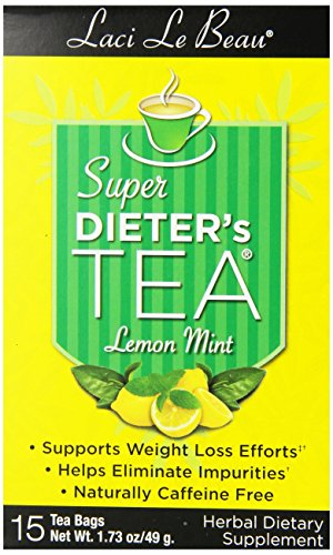 Laci Le Beau Super Dieter's Tea, Lemon Mint, 15 Count Box (Pack of 6) ()